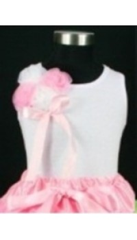 Cute Kids White Tank Top w/ Ballerina  (1Y, 3Y, 4Y, 5Y )